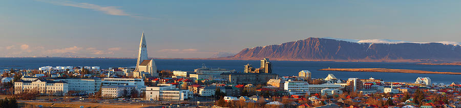 Panoramic View Over Reykjavik Photograph by Travelpix Ltd