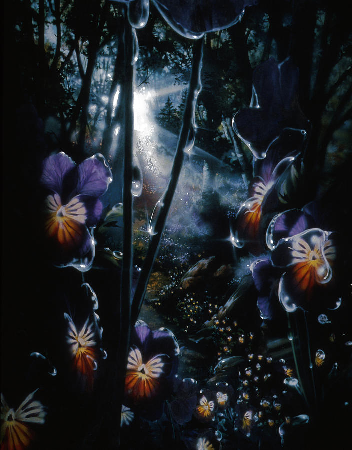 Pansy Painting - Pansy Path by Lynette Yencho