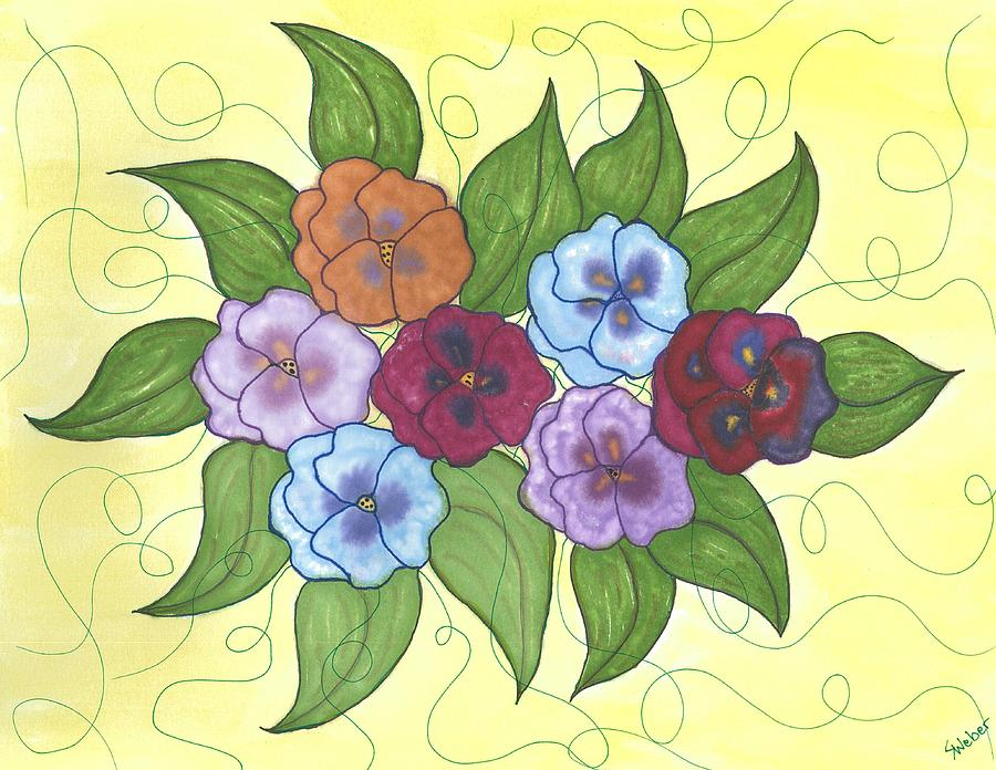 Pansy Painting - Pansy Posy by Susie WEBER