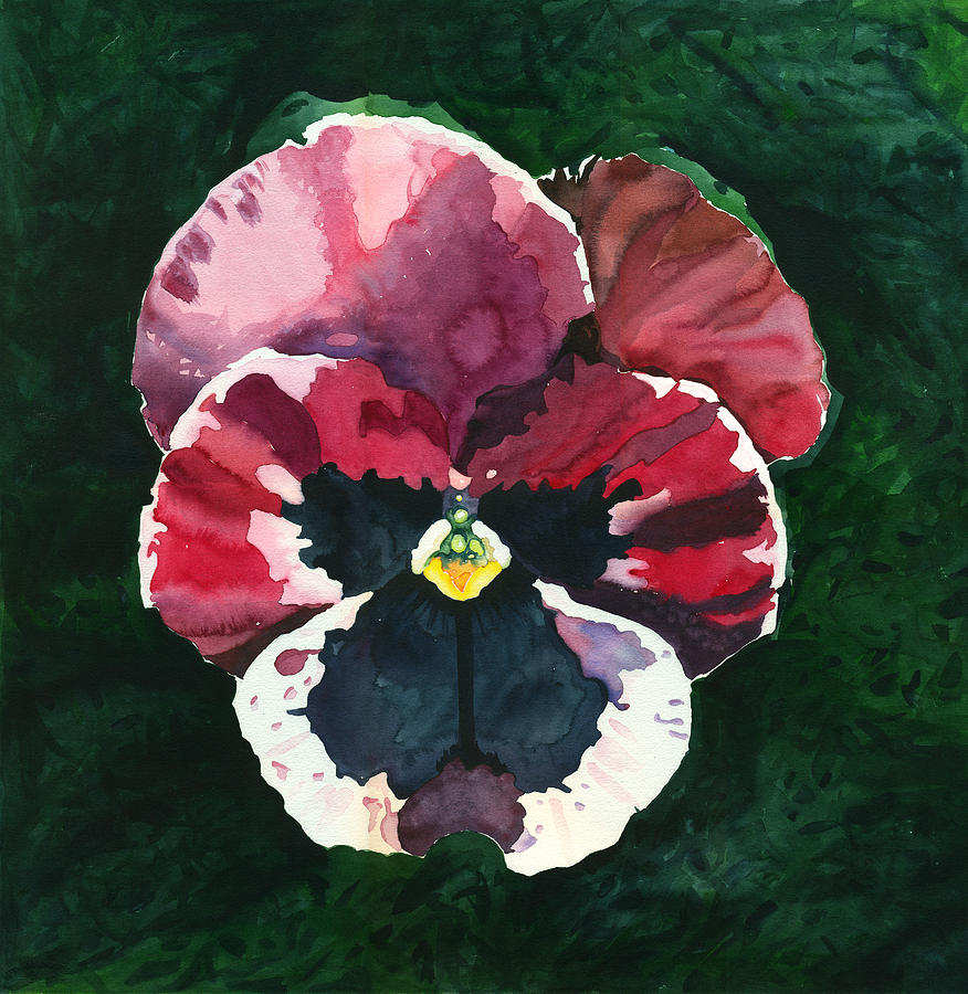 Pink Painting - Pansy Red by Katherine Miller