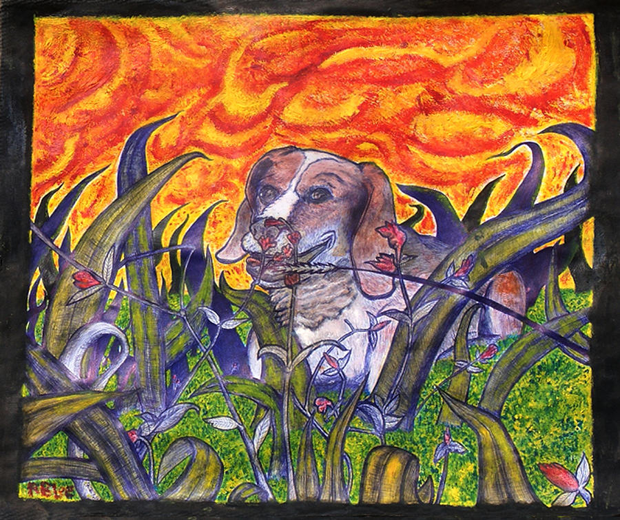 Panting Summer Heat In Cool Grass Painting By Ryan Lee