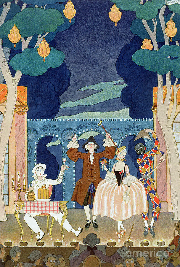 Orchestra Painting - Pantomime Stage by Georges Barbier
