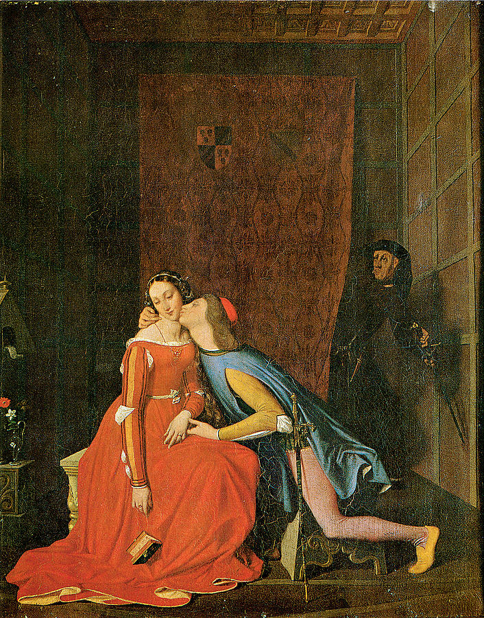 Jean-auguste-dominique Ingres Painting - Paolo And Francesca by Jean-Auguste-Dominique Ingres
