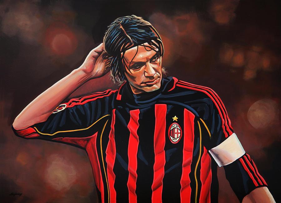 Paolo Maldini Painting - Paolo Maldini by Paul Meijering