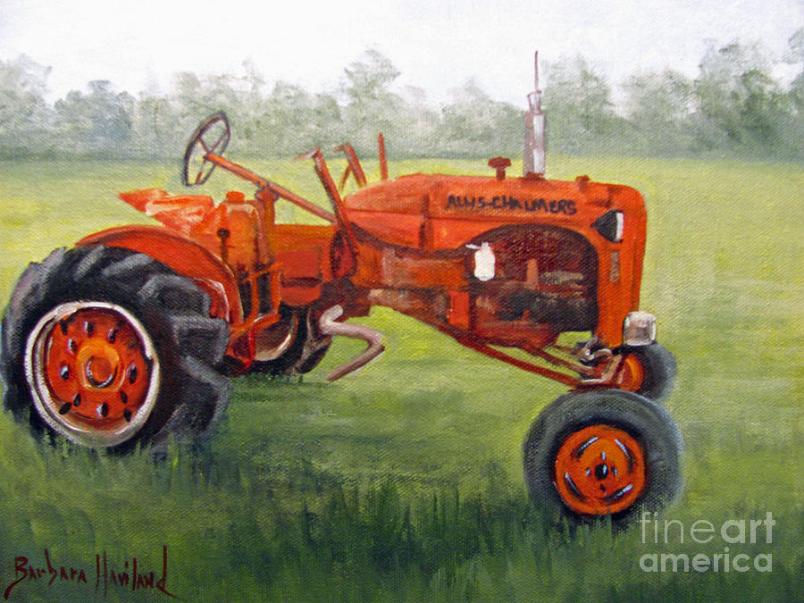 International Tractor Painting : Papa s red tractor painting by barbara haviland