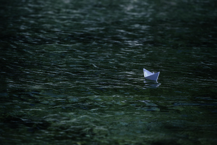 Paper Boat Photograph - Paper Boat by Joana Kruse