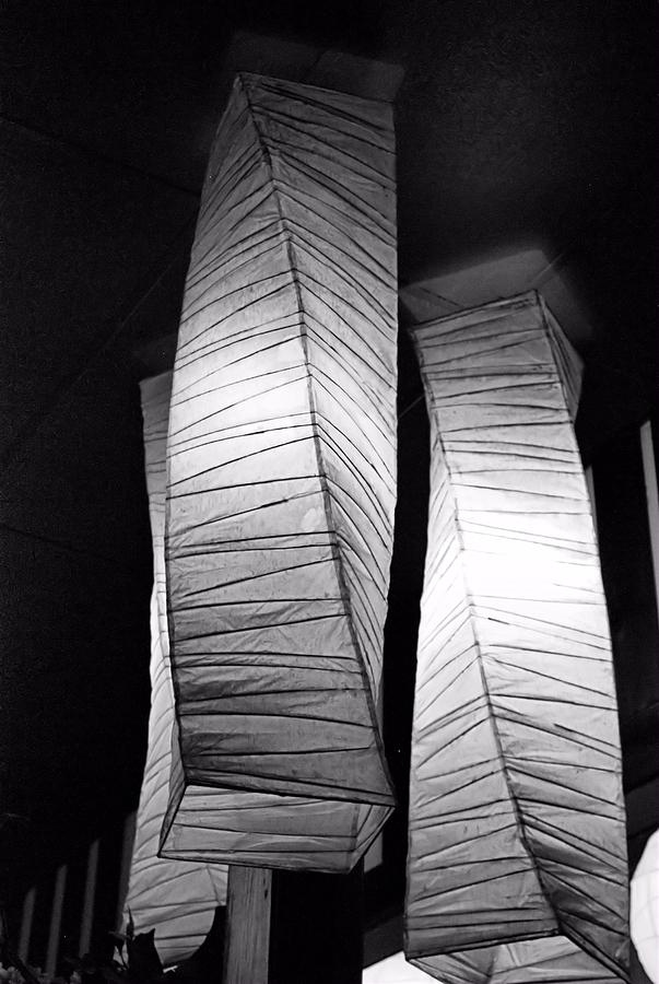 Btwgf Photograph - Paper Lampshades by Bob Wall