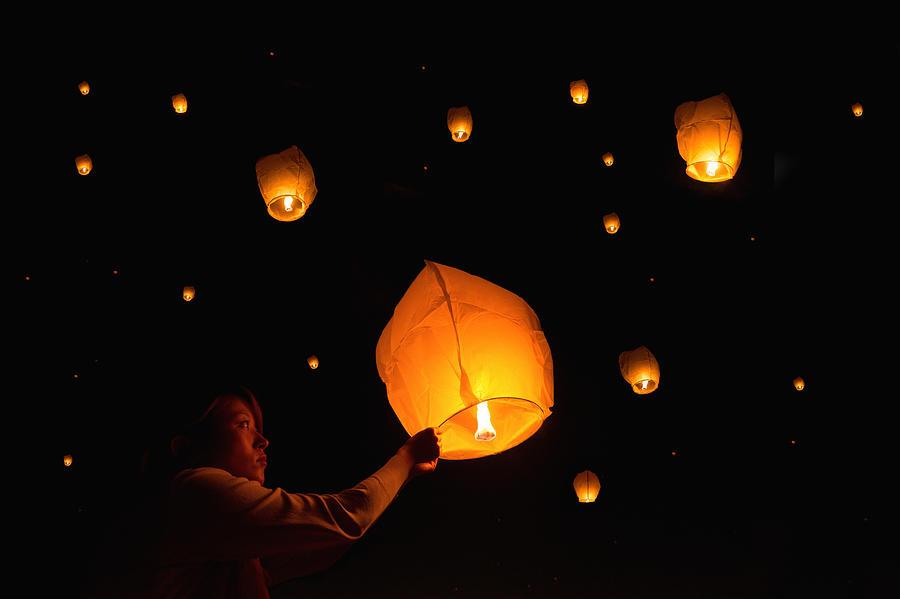 Paper Lanterns Photograph by Alexander W Helin