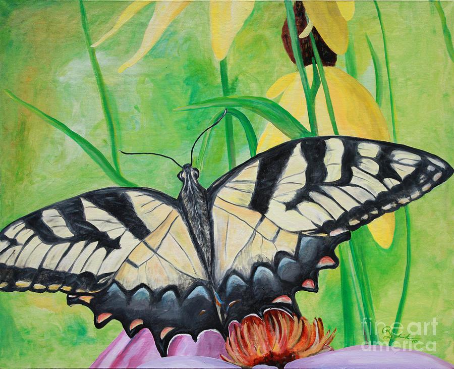 Tiger Painting - Papillio Glaucus by Robert Schippnick