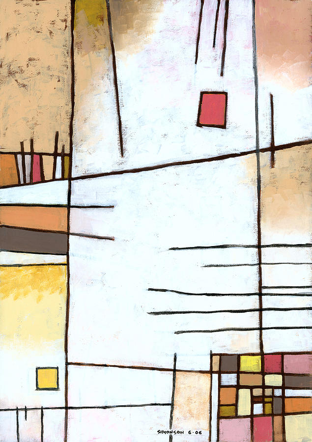 Abstract Painting - Paprika by Douglas Simonson