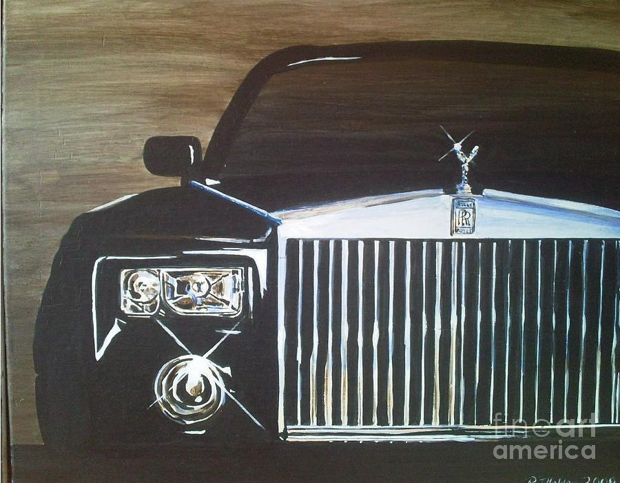 Rolls Royce Painting - Par De Elegance Rolls Royce Phantom by Richard John Holden RA