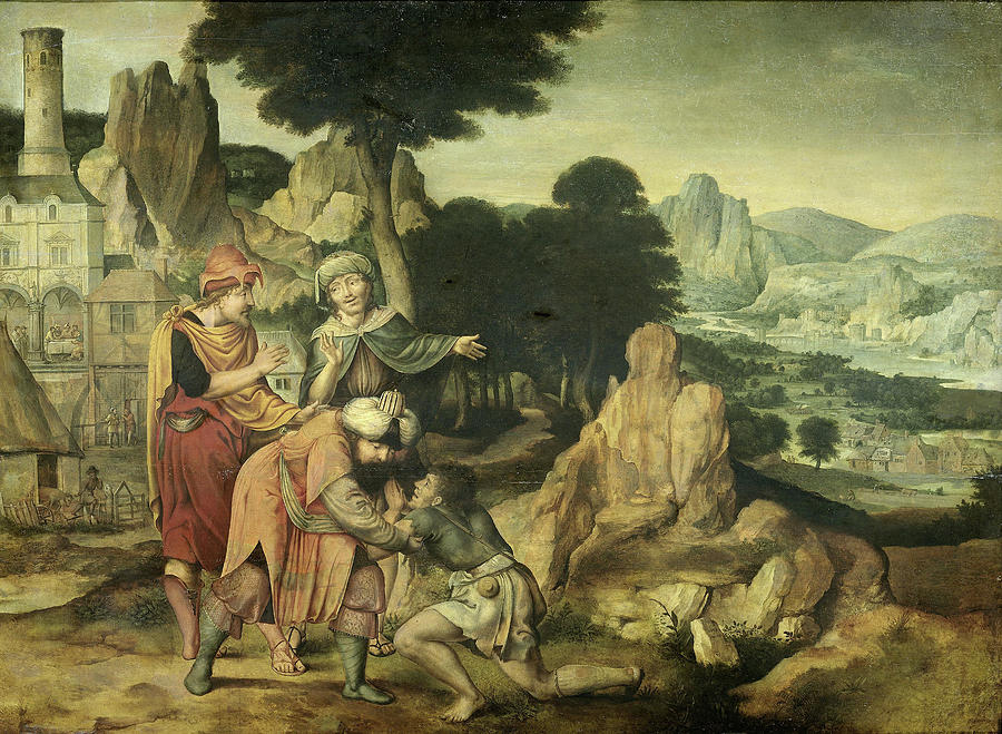Parable Of The Prodigal Son Cornelis Massijs Drawing By Litz Collection