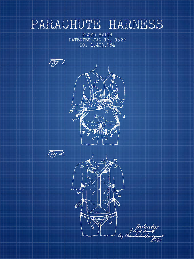 Parachute harness patent from 1922 blueprint digital art by aged parachute digital art parachute harness patent from 1922 blueprint by aged pixel malvernweather Choice Image