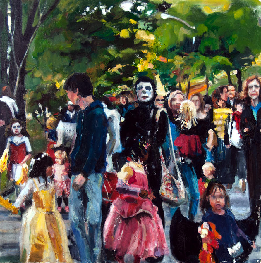 Children Painting - Parade I by Mia Merlin