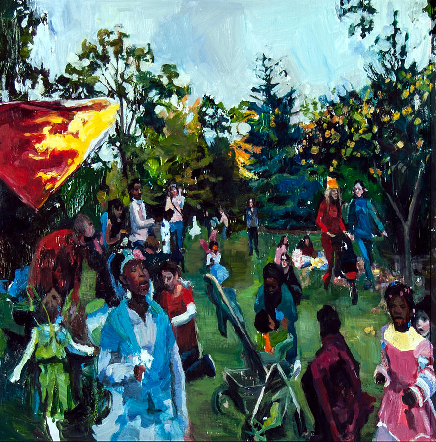 Parade II Painting by Mia Merlin