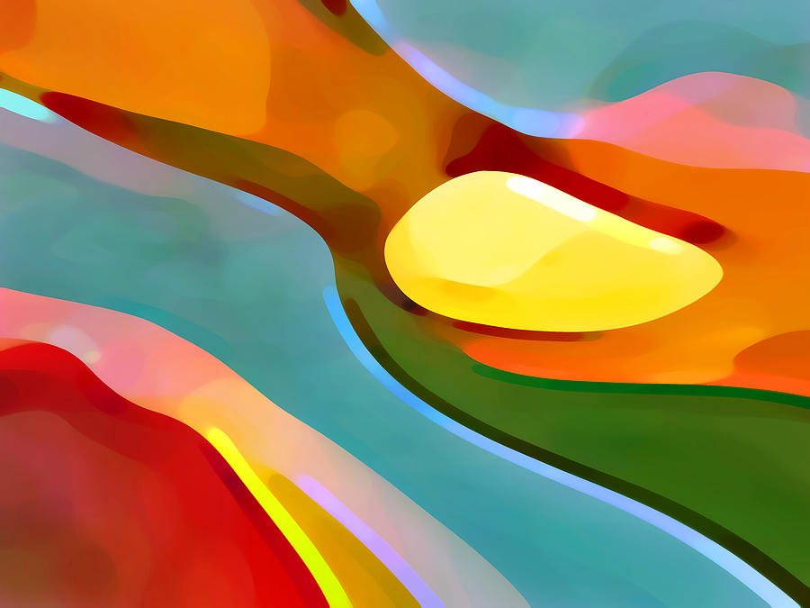 Abstract Art Painting - Paradise 5 by Amy Vangsgard