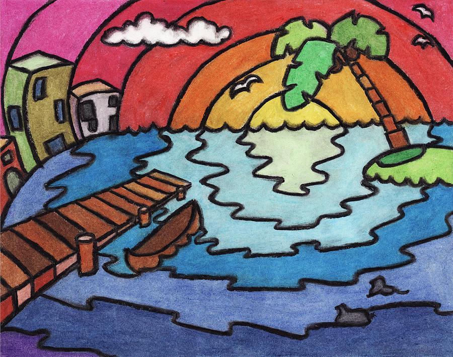 Landscape Pastel - Paradise by Ashley King