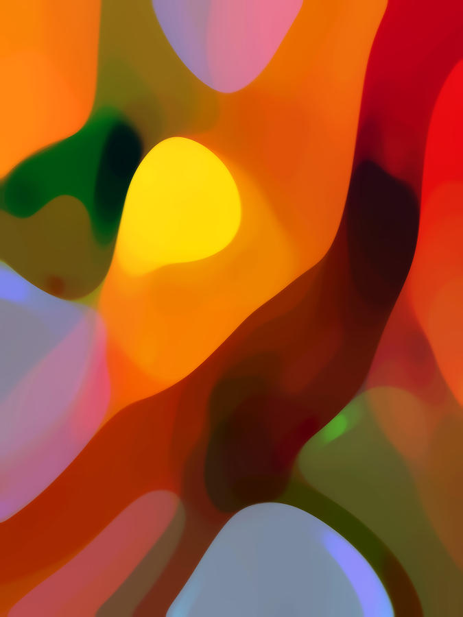 Abstract Painting - Paradise Found 2 Tall by Amy Vangsgard