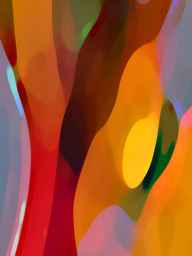 Abstract Painting - Paradise Found 3 Tall by Amy Vangsgard