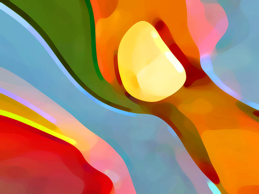 Abstract Painting - Paradise Found 4 by Amy Vangsgard