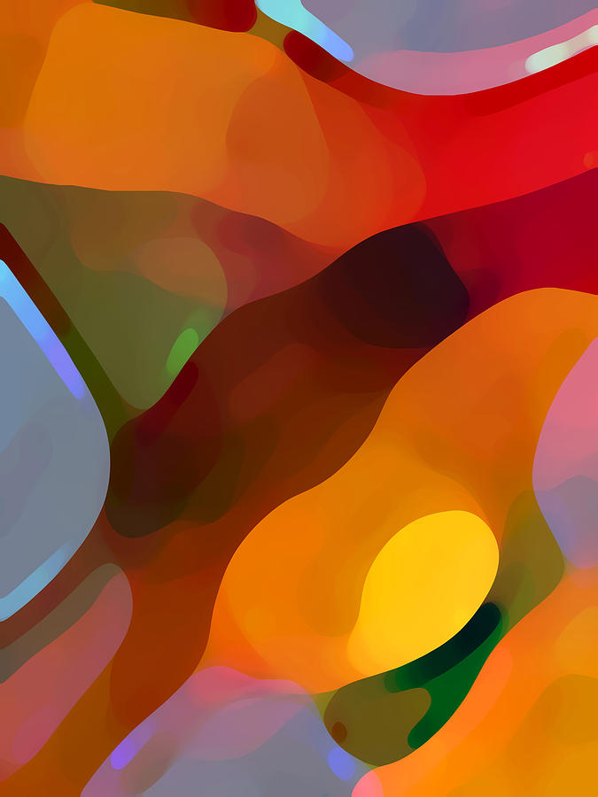 Abstract Painting - Paradise Found Tall by Amy Vangsgard
