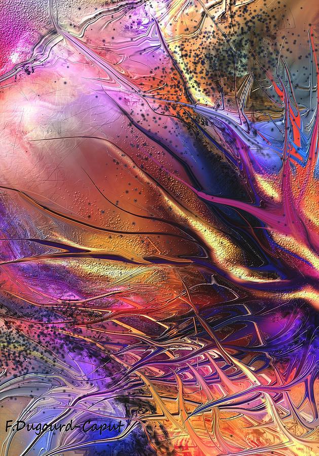 Abstract Digital Art - Paradise by Francoise Dugourd-Caput