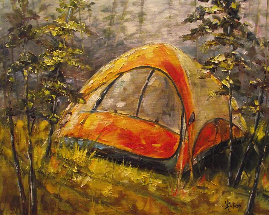 Camping Painting - Paradise In The Woods by Angela Sullivan