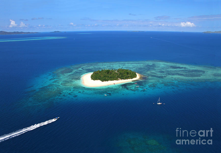 Fiji Photograph - Paradise Island In South Sea II by Lars Ruecker