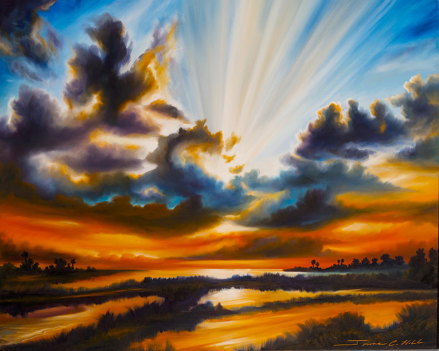 Sunrise Painting - Paradise by James Christopher Hill