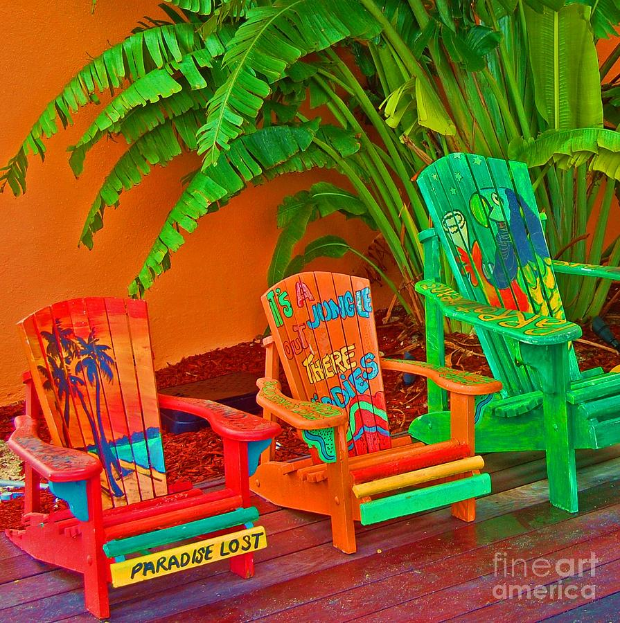 Chairs Photograph - Paradise Lost by Debbi Granruth