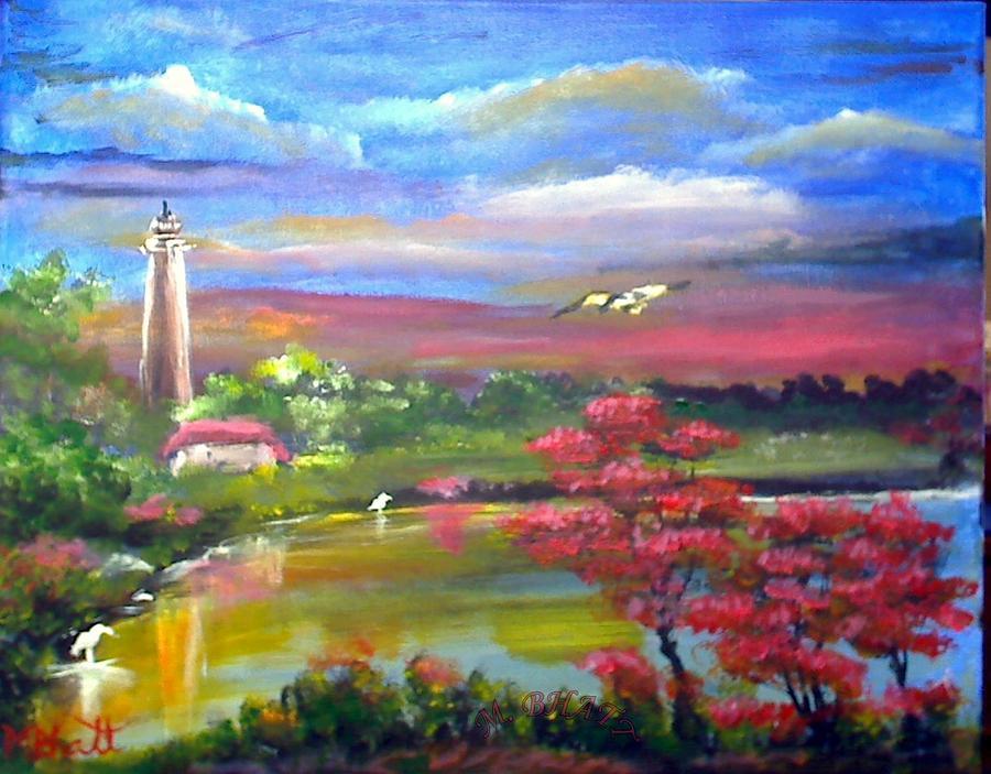 Nature Painting - Paradise Nature by M Bhatt