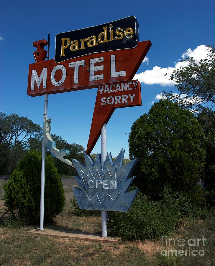 Route 66 Photograph - Paradise On Route 66 by Mel Steinhauer
