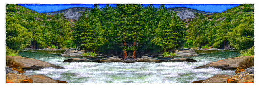 Water Painting - Paradise on the River by Bruce Nutting