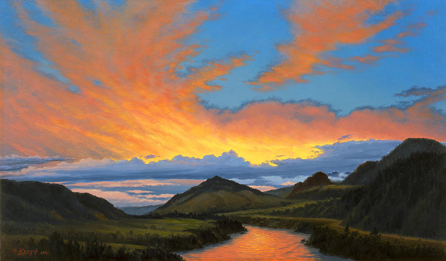 Landscape Painting - Paradise Valley Sunset  by Paul Krapf