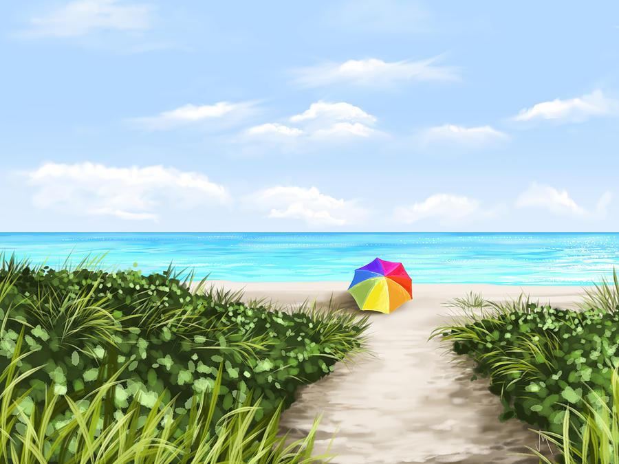 Ipad Painting - Paradise by Veronica Minozzi