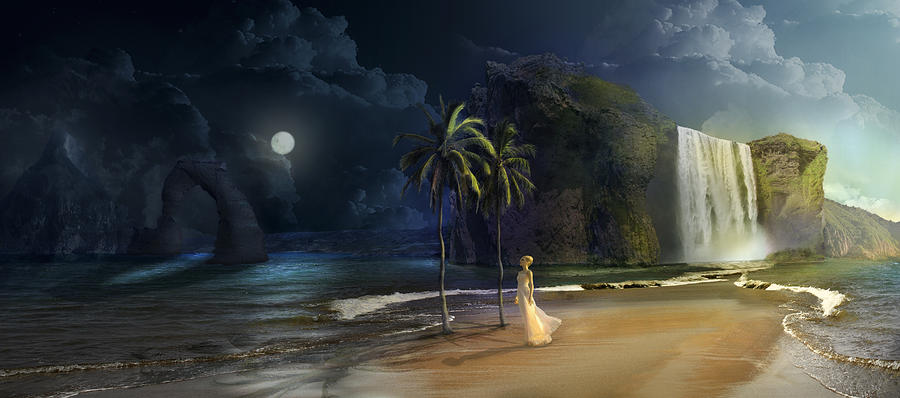 Paradise Digital Art - Paradise by Virginia Palomeque