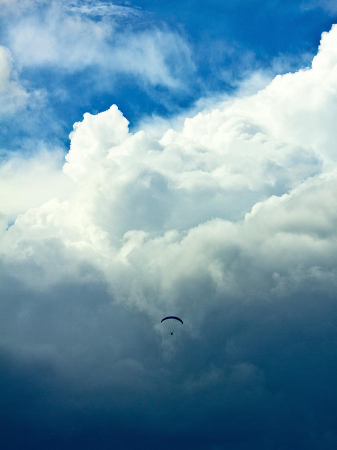 Airport Photograph - Paragliding In Changing Weather by Viacheslav Savitskiy