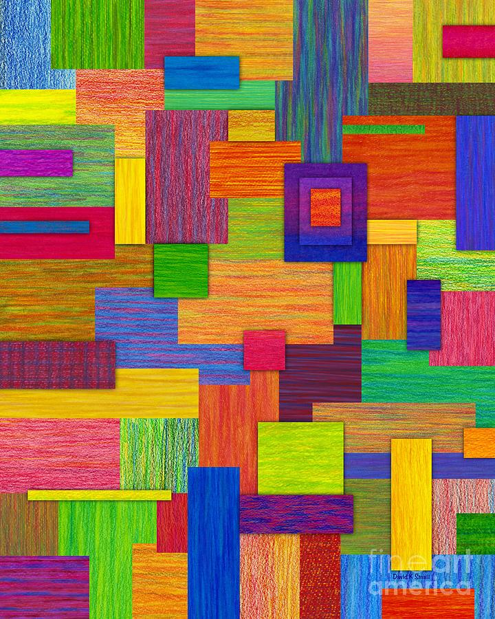Colored Pencil Painting - Parallelograms by David K Small