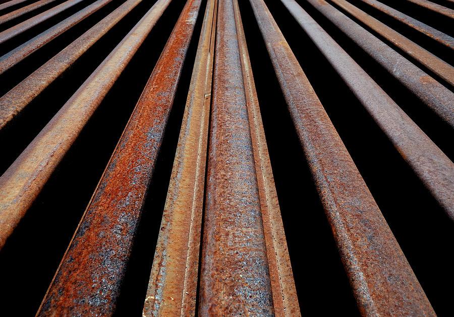 Rails Photograph - Parallels by Steven Milner