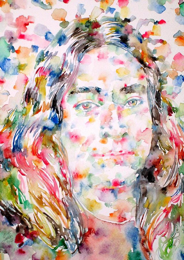 Yogananda Painting - Paramahansa Yogananda Watercolor Portrait by Fabrizio Cassetta