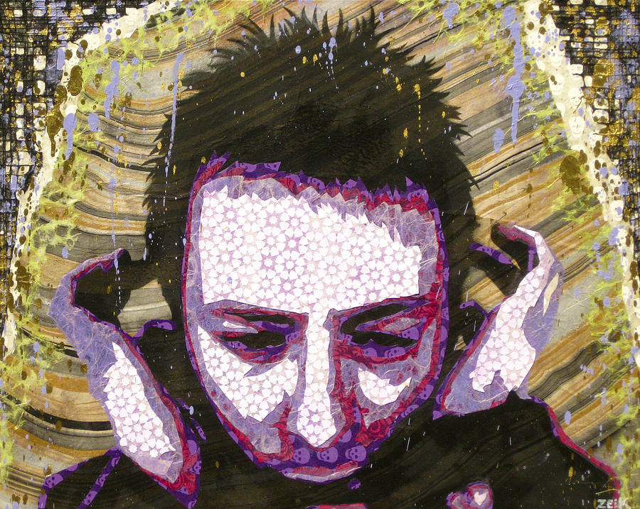 Thom Yorke Painting - Paranoid Android Version by Bobby Zeik