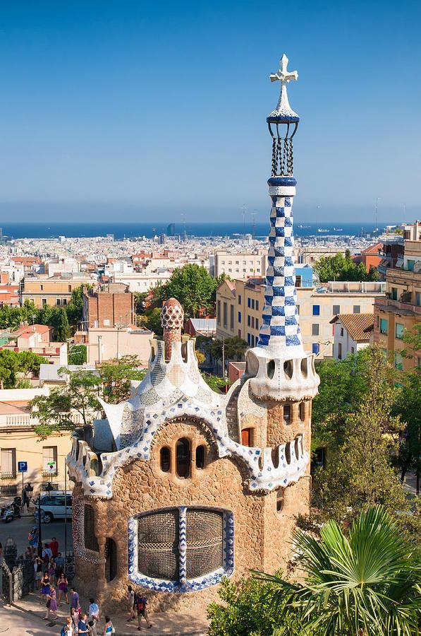 Parc Guell Photograph - Parc Guell Barcelona Antoni Gaudi by Matthias Hauser