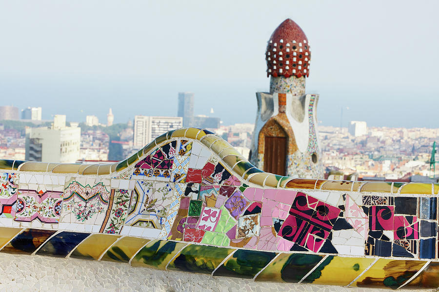 Parc Guell. Barcelona. Spain Photograph by Nimu1956