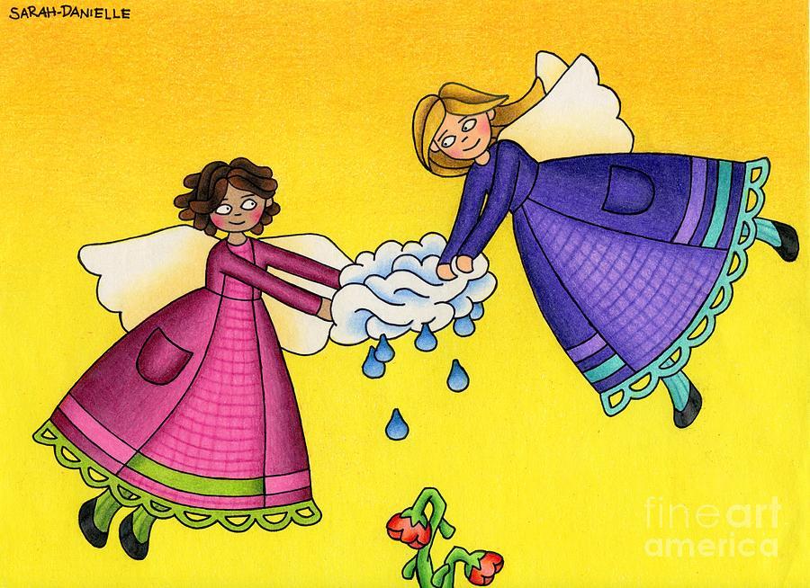 Angels Drawing - Parched by Sarah Batalka