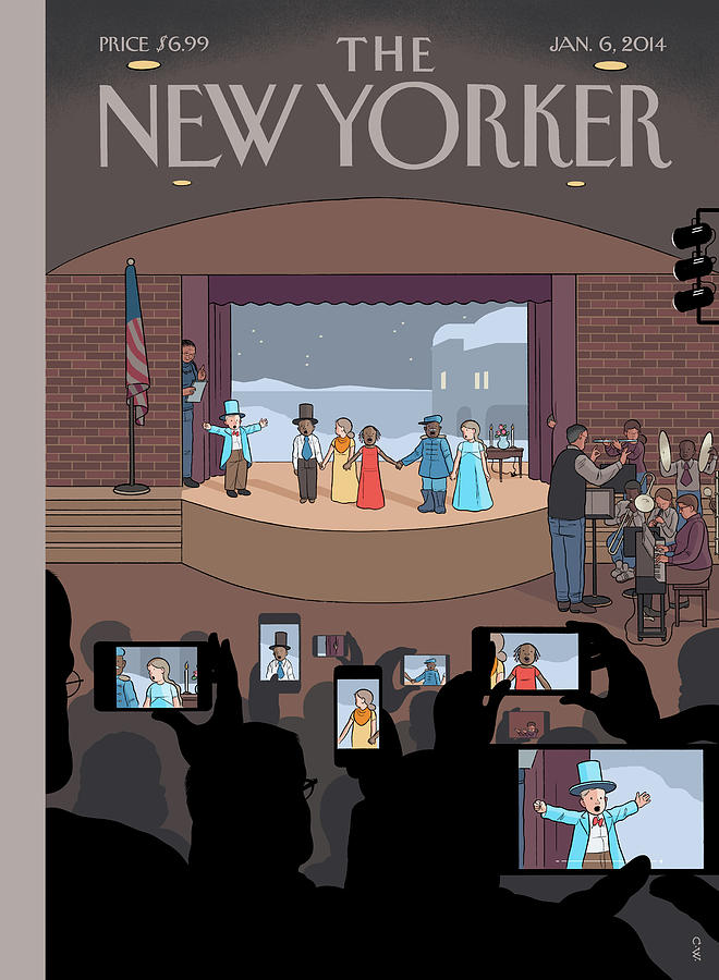 All Together Now Painting by Chris Ware