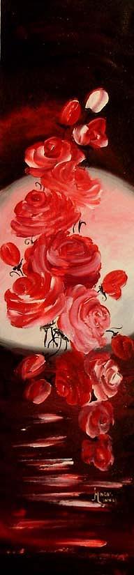 Roses Painting - Parfum De Trandafiri by Mariana Oros