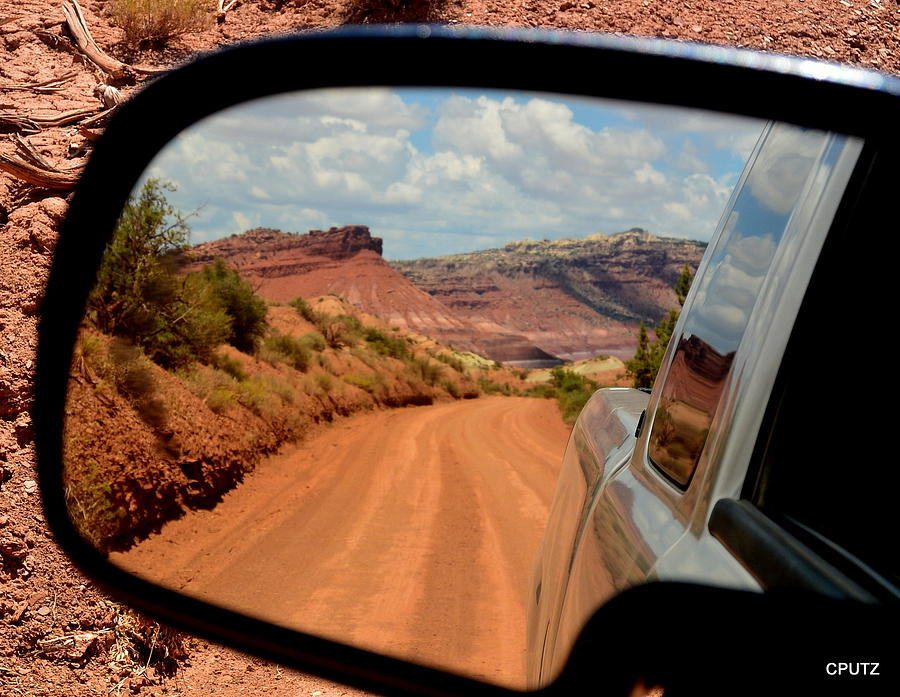 Utah Photograph - Paria In My Rearview by Carrie Putz