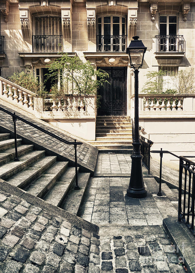 Statue Photograph - Paris - Stairs Montmartre by ARTSHOT  - Photographic Art
