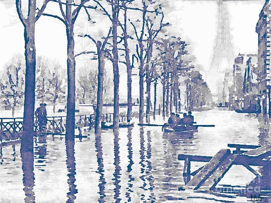 paris 1910 great flood of paris painting by helge