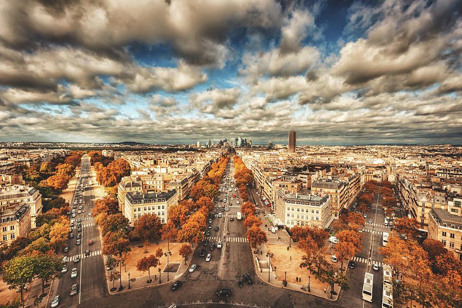Paris Aerial View Of La Defense Photograph by Franckreporter